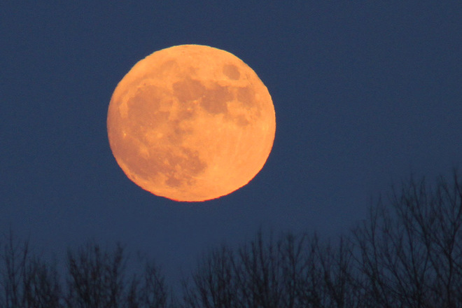 """There's a bad moon on the rise."" Cornwall, Ontario Canada"