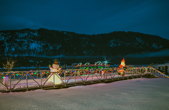 Christmas in the air at Waterway Sicamous, British Columbia Canada