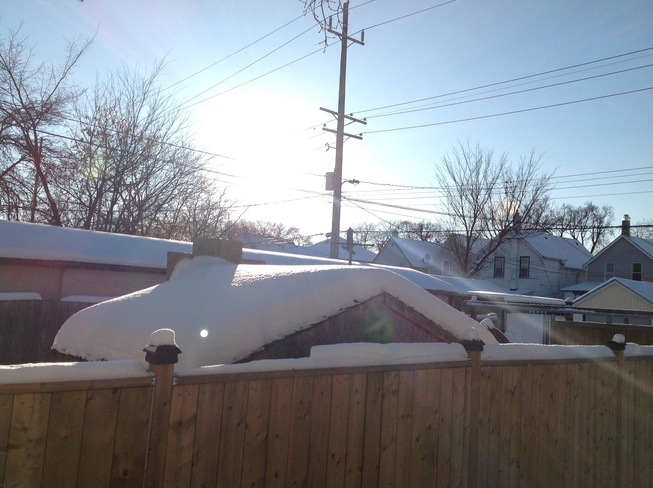 Sunny and Cold! Winnipeg, Manitoba Canada