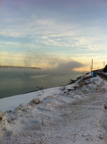 Ice Fog Harbour Grace, Newfoundland and Labrador Canada