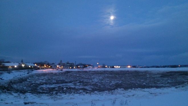 Early Morning lights Wolfville, Nova Scotia Canada