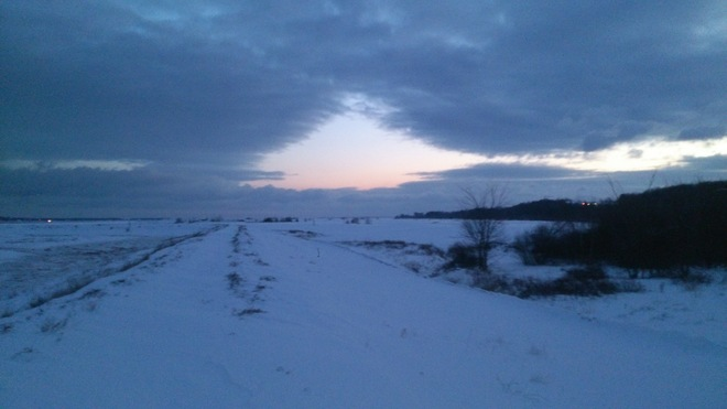 Light at the end of the snowtunnel? Wolfville, Nova Scotia Canada