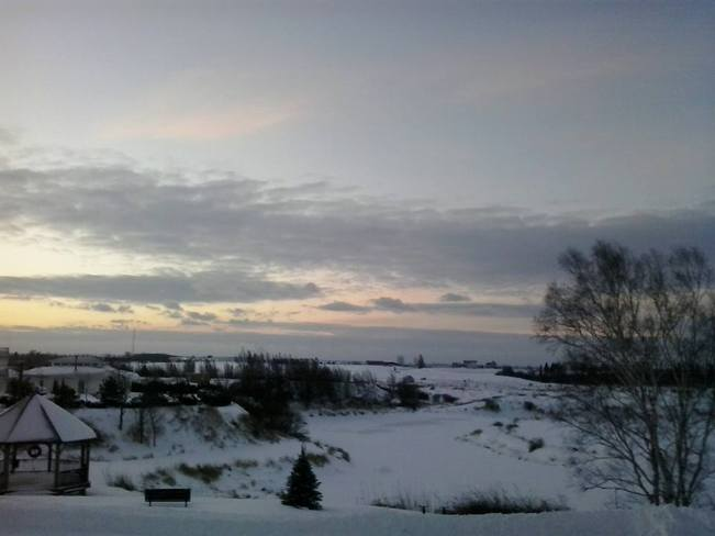 Winter Sunrise Canning, Nova Scotia Canada