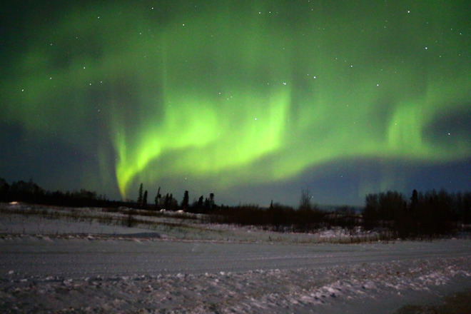 Northern lights. The Pas, Manitoba Canada