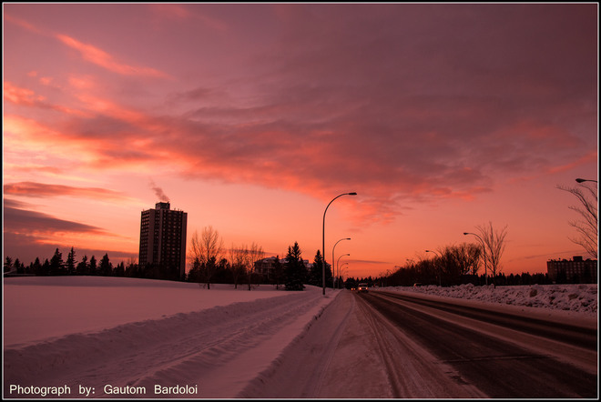 Seven hours of day light today Edmonton, Alberta Canada