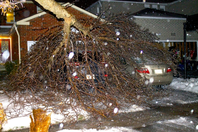 Ice storm Thornhill, Ontario Canada