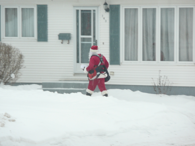 Santa out on mail delivery Grand Falls-Windsor, Newfoundland and Labrador Canada