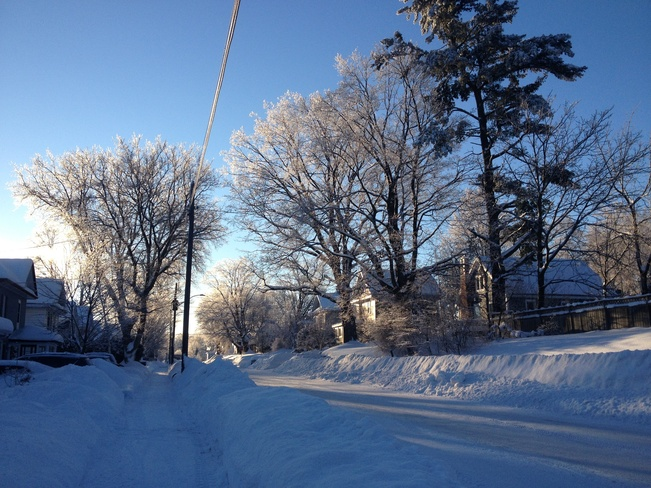 Winter morning in Midland Midland, Ontario Canada
