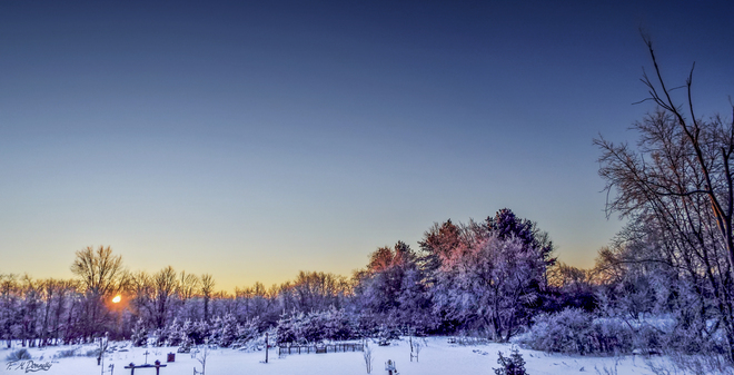 Sunrise on Christmas Eve Smiths Falls, Ontario Canada