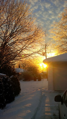 Christmas morning Peterborough, Ontario Canada