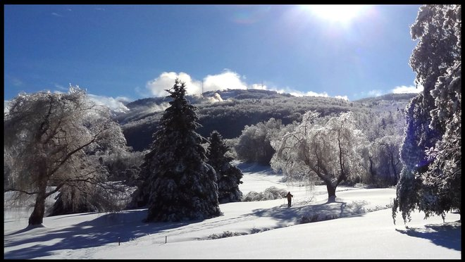 white & icy X-Mass Bromont, Quebec Canada