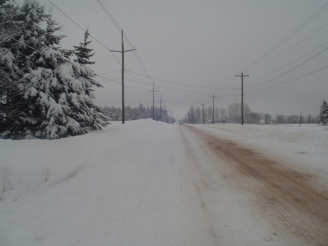 winter road O'Leary, Prince Edward Island Canada