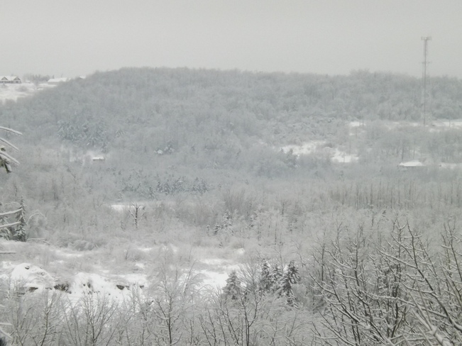 snow across the valley New Minas, Nova Scotia Canada