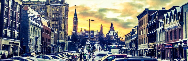 Parliament from the ByWard Market Ottawa, Ontario Canada