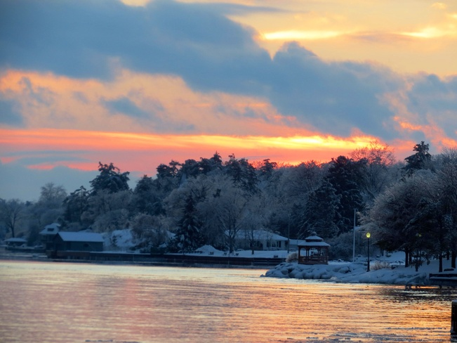 Sunset on the River Brockville, Ontario Canada