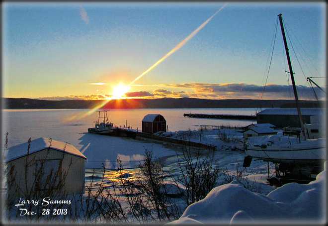"""Sunrise Over Halls Bay"" Springdale, Newfoundland and Labrador Canada"