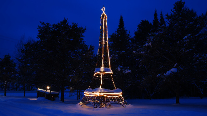 Our Eiffel Tower at Night Thunder Bay, Ontario Canada