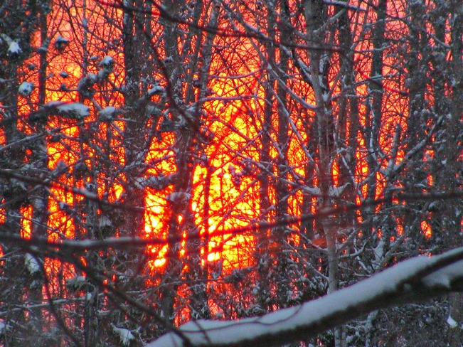 A Fire in the sky... Pembroke, Ontario Canada
