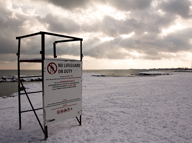 No Lifeguards on Duty The Beaches, Ontario Canada
