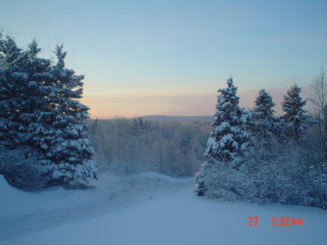 christie ridge sun set McAdam, New Brunswick Canada