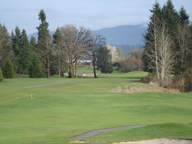 Golfing in December Duncan, British Columbia Canada