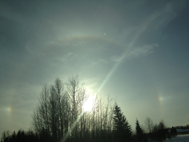 "The ""SunDog"" Heart Lake 167A, Alberta Canada"