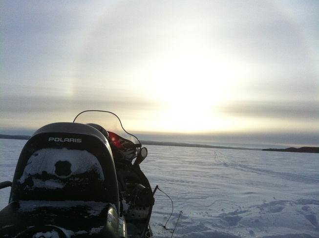 sundog on namur lake Fort McMurray, Alberta Canada