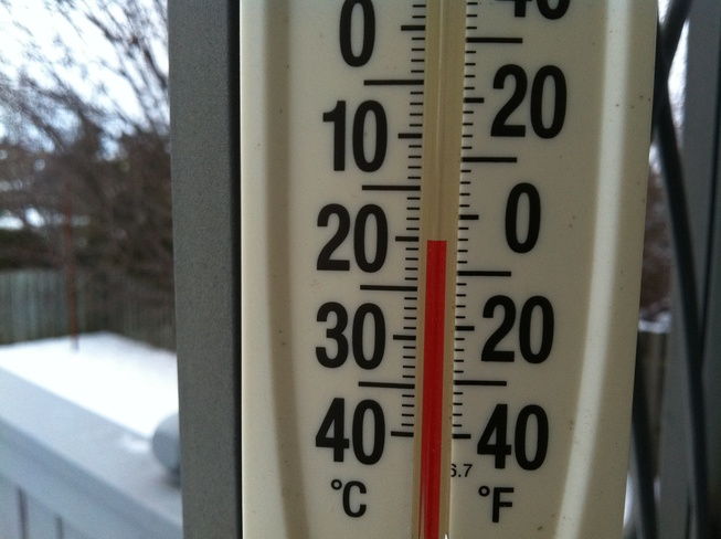 Very Cold Courtice, Ontario Canada