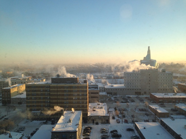 Morning view Winnipeg, Manitoba Canada