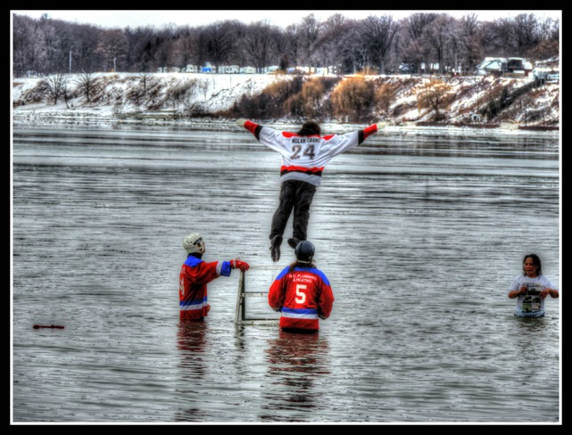 Take the plunge.. The Polar Bear Plunge !!! Port Dover, Ontario Canada