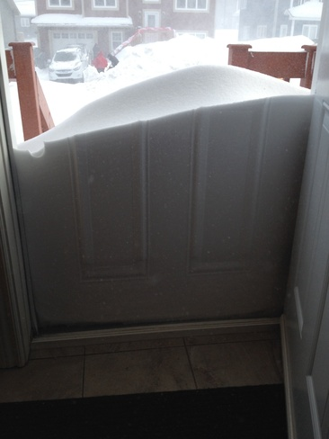 front door snow St. John's, Newfoundland and Labrador Canada