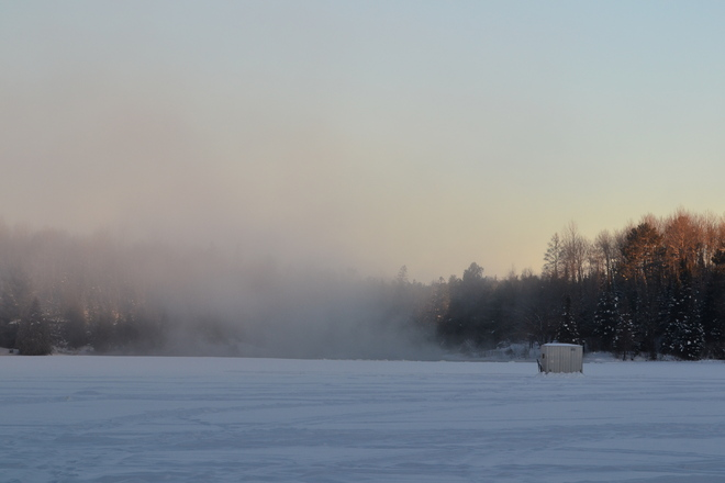 to cold for fishing Sturgeon Falls, Ontario Canada