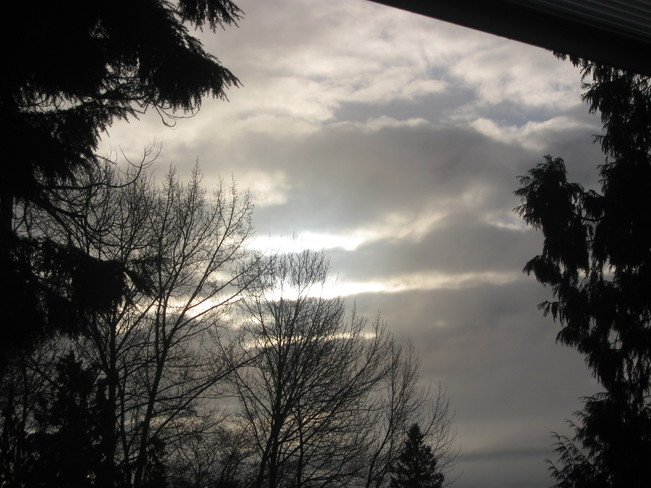 Boxing Day sky Surrey, British Columbia Canada