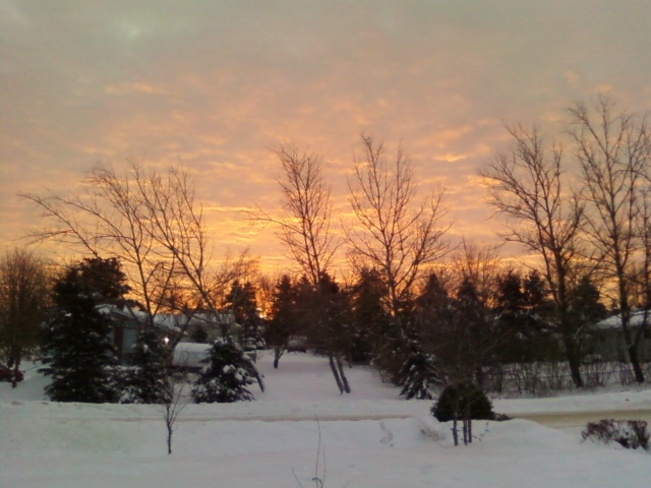 Red sky in the morning Hampton, New Brunswick Canada