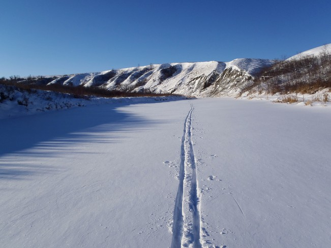 Ski tour on Wascana Creek Regina, Saskatchewan Canada