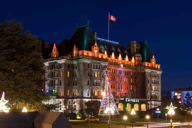 Empress Hotel clear evening Victoria, British Columbia Canada