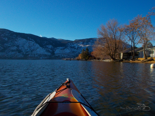 Kayaking Skaha Lake Jan4th2013 Penticton, British Columbia Canada