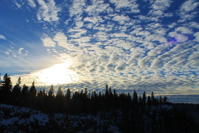Dappled Winter Skies Savona, British Columbia Canada