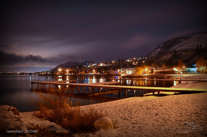 Summerland Beach Lights Summerland, British Columbia Canada