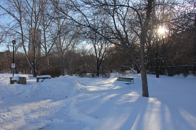 Cold and Sunny Winnipeg, Manitoba Canada