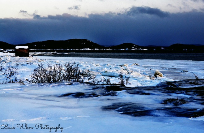 Icy Cold Day Burlington, NL Middle Arm, Newfoundland and Labrador Canada