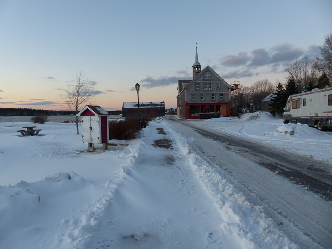 Frozen Shelburne Harbour Shelburne, Nova Scotia Canada