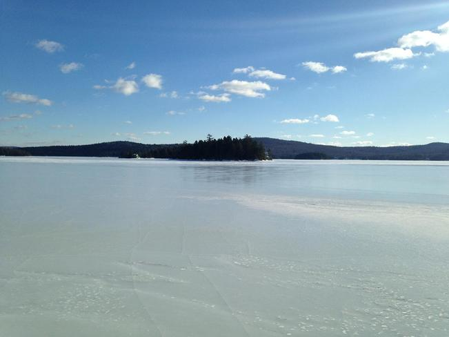 A Winter Day At Skiff Lake Nackawic, New Brunswick Canada
