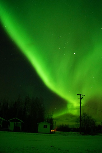 Northern lights Veil Fort McMurray, Alberta Canada