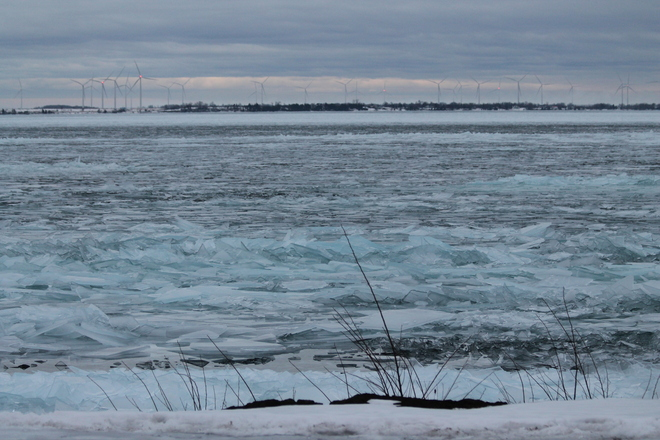 Icy Shoreline Lake Ontario Kingston, Ontario Canada