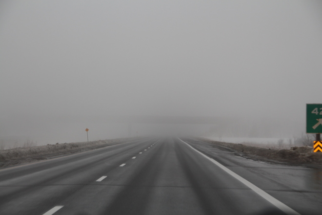 Foggy day on HW 416