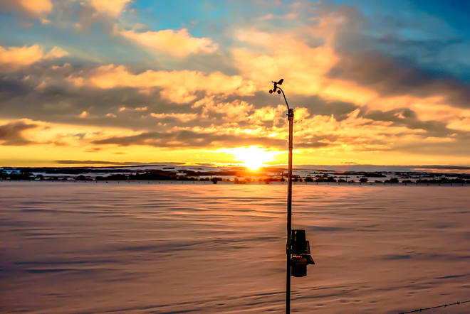 Lonely Weather Station Lacombe, Alberta Canada