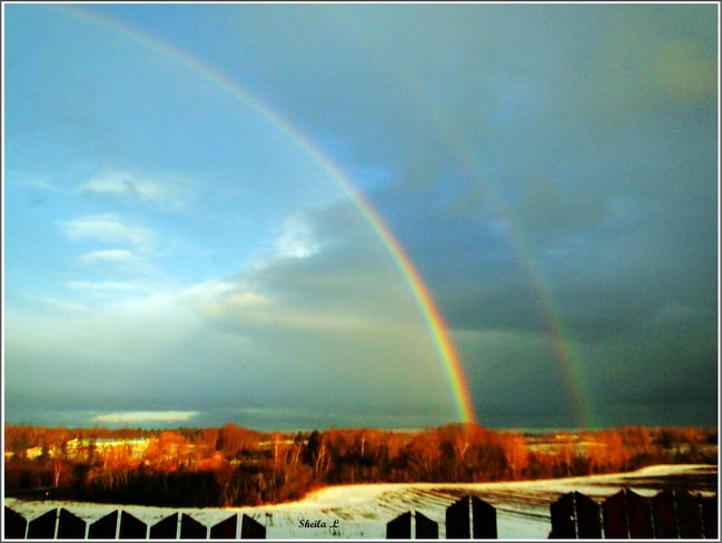 Double Rainbow In Jan. Canning, Nova Scotia Canada