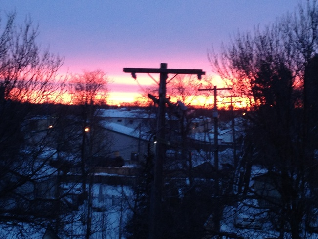 Winter Sunrise Selkirk, Manitoba Canada