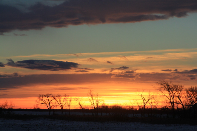 January Sunrise Dalmeny, Saskatchewan Canada